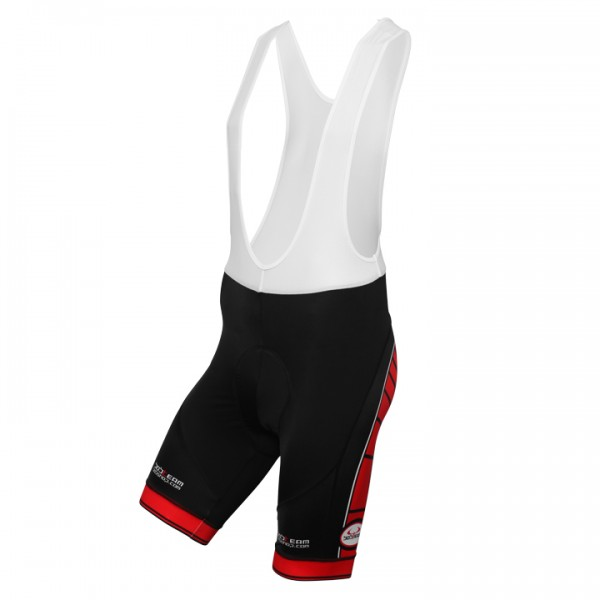 BOBTEAM Bib Shorts, black-red black - red