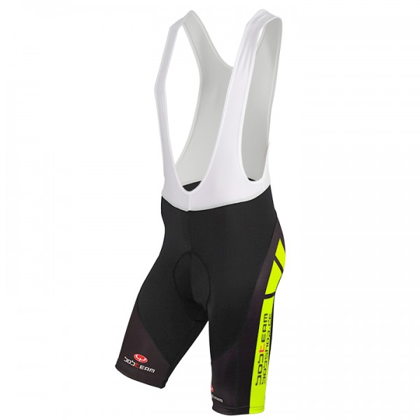 BOBTEAM COLORS Bib Shorts black-neon yellow neon yellow - black