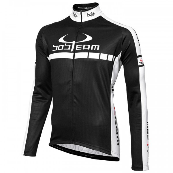BOBTEAM COLORS long sleeve jersey black-white white - black