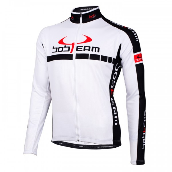 BOBTEAM COLORS long sleeve jersey white white - black