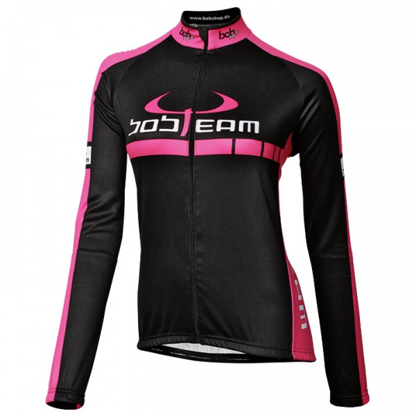 BOBTEAM COLORS Long Sleeve Jersey black-pink black - fuchsia