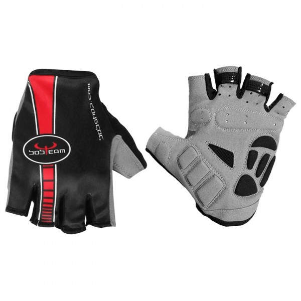 BOBTEAM Cycling Gloves, black-red black - red