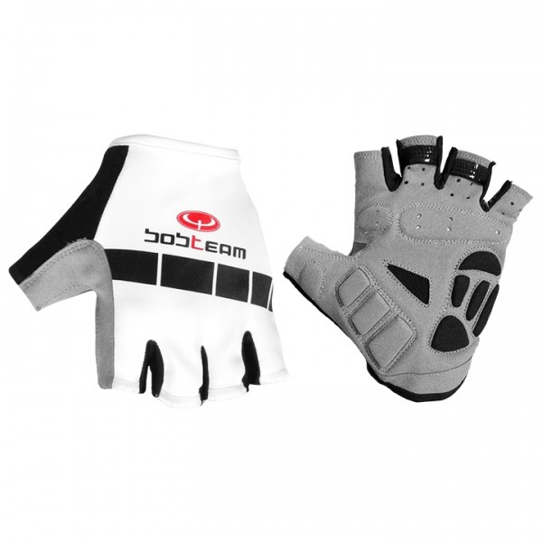 BOBTEAM Cycling Gloves white-black