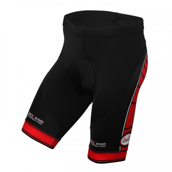 BOBTEAM Cycling Shorts, black-red black - red