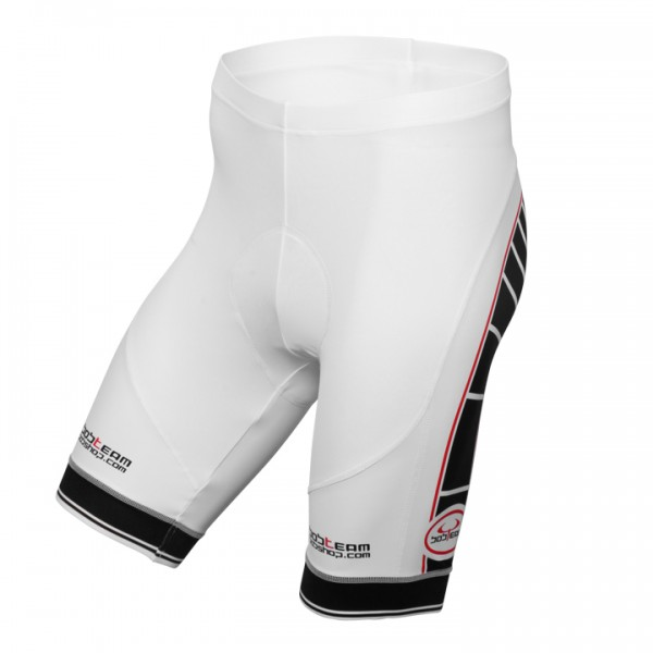 BOBTEAM Cycling Shorts, white-black white - black