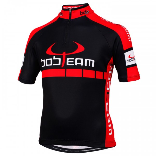BOBTEAM Short Sleeve Jersey black black - red