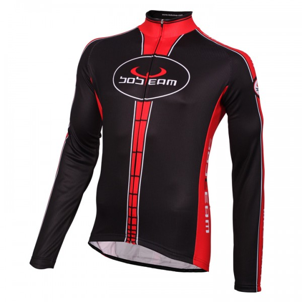BOBTEAM Long Sleeve Jersey, black-red black - red