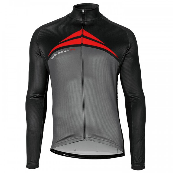 BOBTEAM PERFORMANCE LINE Long Sleeve Jersey grey - black - red - multicoloured