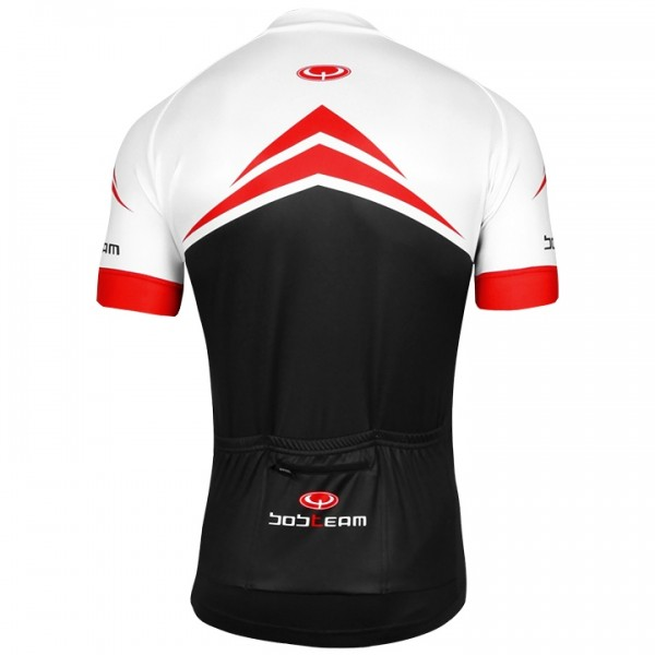 BOBTEAM PERFORMANCE LINE Short Sleeve Jersey white - black - red - multicoloured