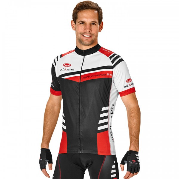 BOBTEAM PERFORMANCE LINE III Short Sleeve Jersey black-white-red white - black - red - multicoloured