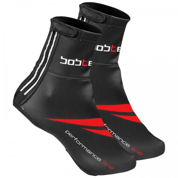 BOBTEAM PERFORMANCE LINE Thermal Shoe Covers black - red