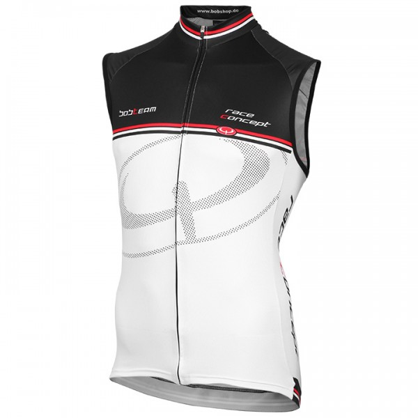 BOBTEAM RACE CONCEPT Sleeveless Jersey white-black