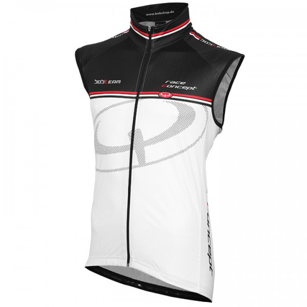 BOBTEAM RACE CONCEPT Wind Vest white-black