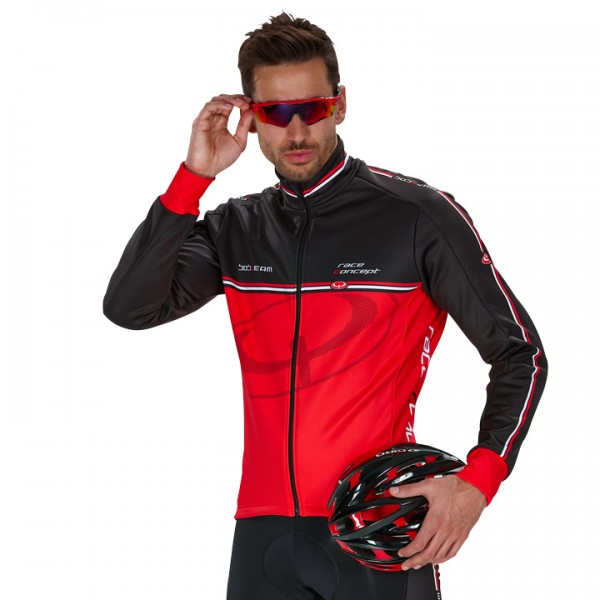 BOBTEAM RACE CONCEPT Winter Jacket, red-black