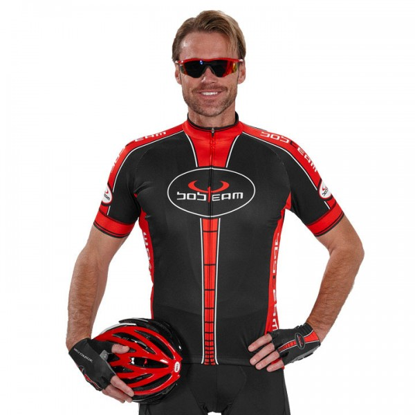 BOBTEAM Short Sleeve Jersey, black-red black - red