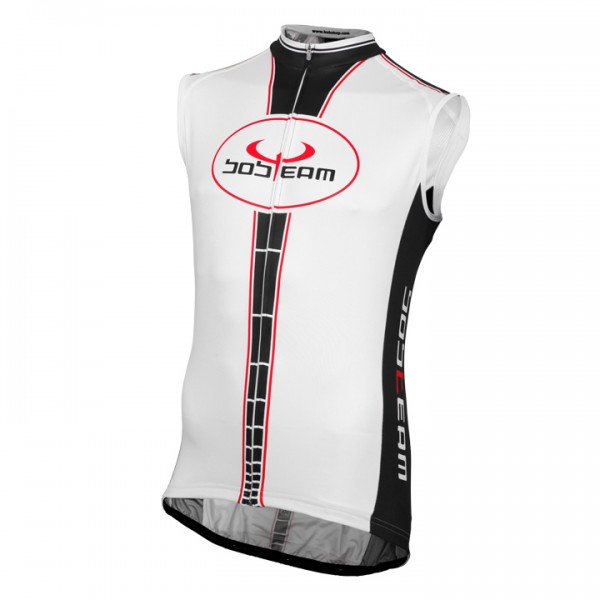 BOBTEAM Sleeveless Jersey, white-black white - black