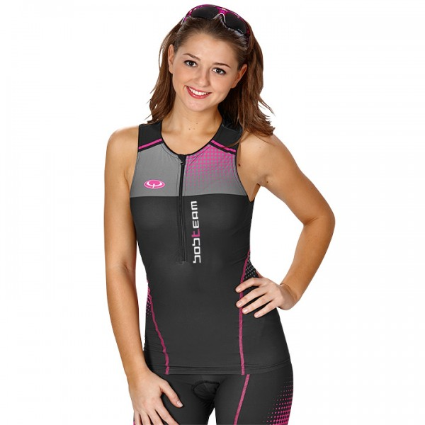 BOBTEAM Tri Top black-pink