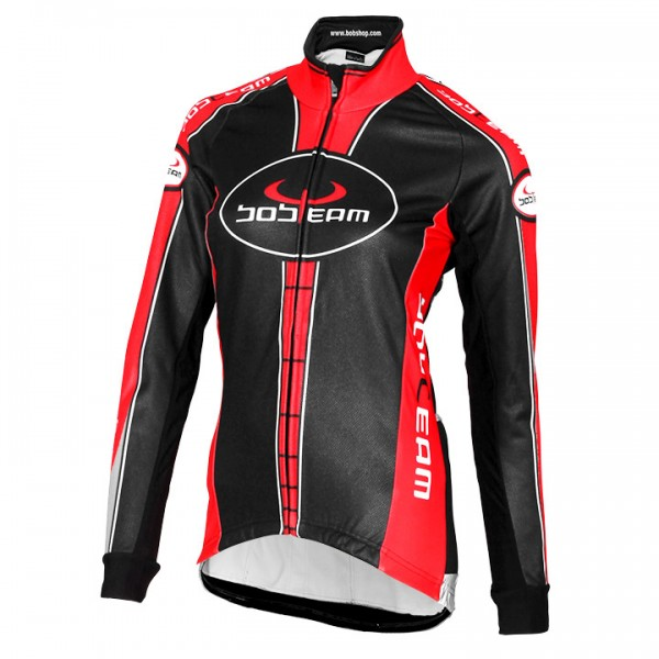BOBTEAM Winter Jacket, black-red black - red