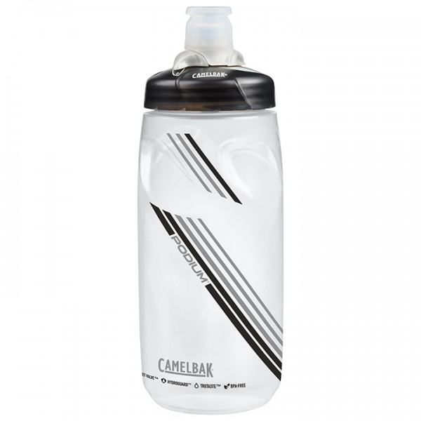 CAMELBAK Podium 620 ml Water Bottle, clear carbon silver