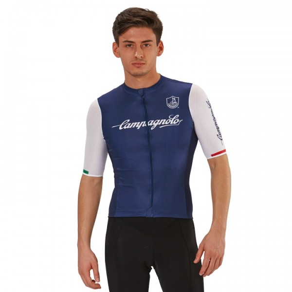 CAMPAGNOLO Iridio 2 Short Sleeve Jersey white - dark blue