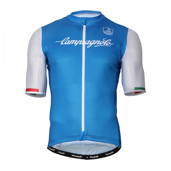 CAMPAGNOLO Iridio 2 Short Sleeve Jersey white - blue