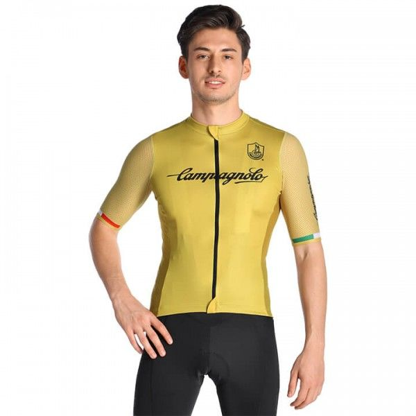 CAMPAGNOLO Iridio Short Sleeve Jersey yellow