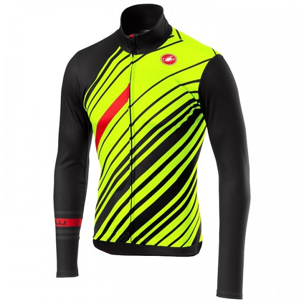 CASTELLI Cielo Long Sleeve Jersey neon yellow - grey