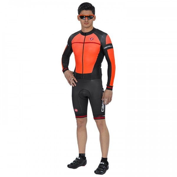 CASTELLI CX 2.0 Race Bodysuit black - orange