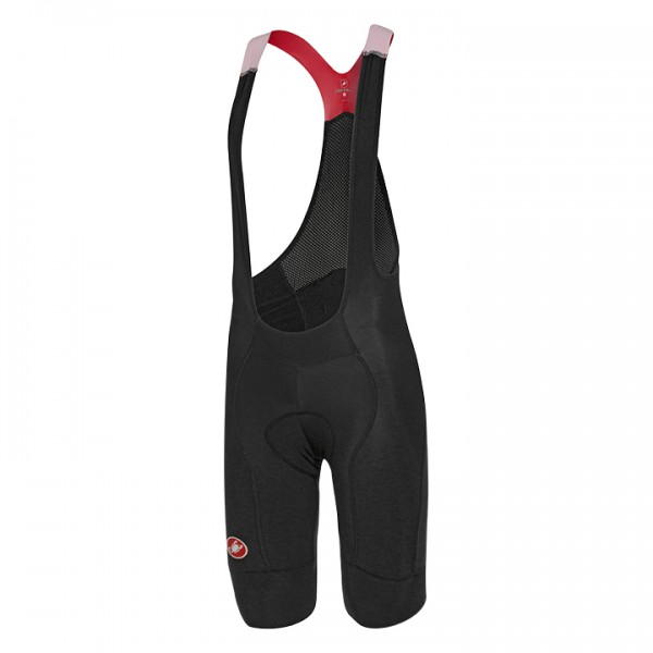 CASTELLI Omloop Bib Shorts, black-red black - red