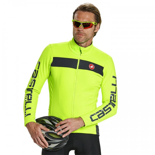 CASTELLI Raddoppia Winter Jacket, neon yellow-grey