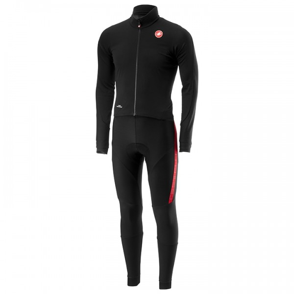 CASTELLI Sanremo 3 Winter Bodysuit black - red