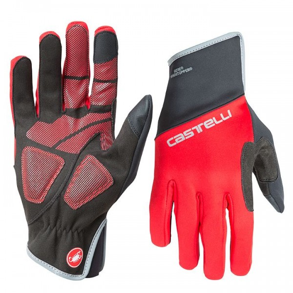 CASTELLI Scalda Pro Full Finger Gloves black - red