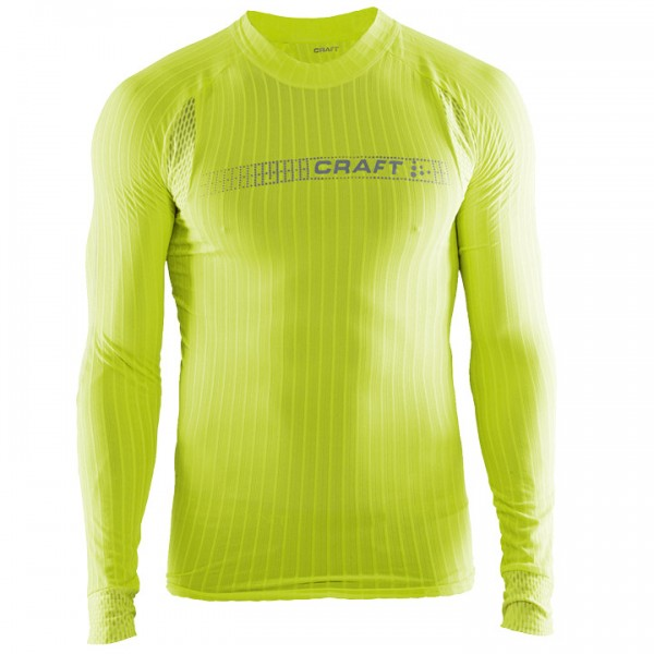 CRAFT Active Extreme 2.0 Brilliant Long Sleeve Base Layer, neon yellow