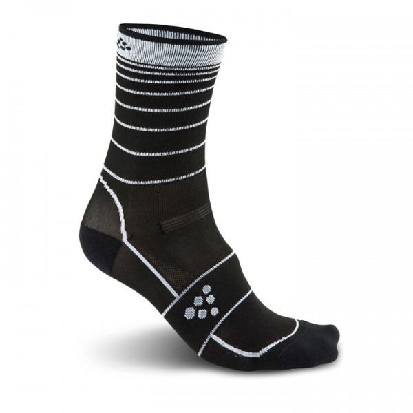 CRAFT Gran Fondo Cycling Socks, black-white