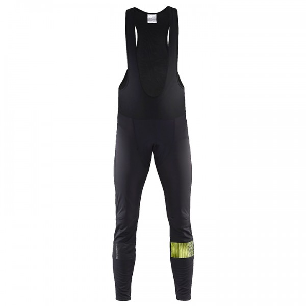 CRAFT Verve Glow Thermal Bib Tights neon yellow - black