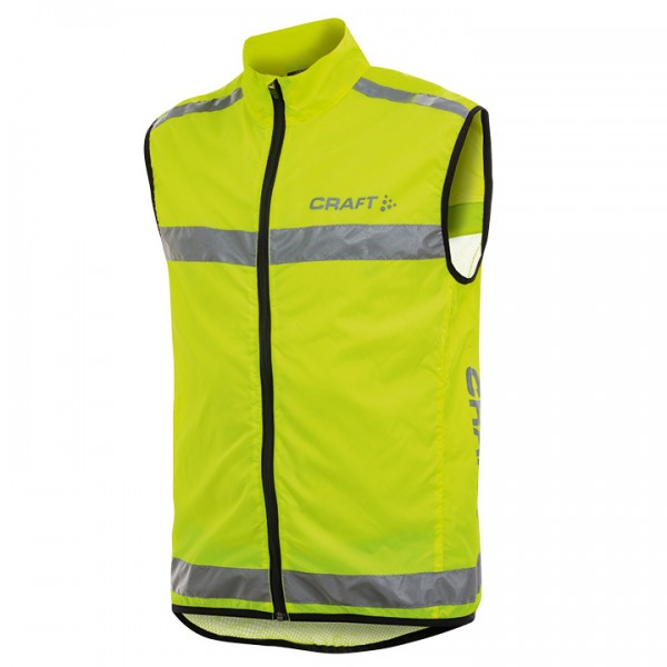 CRAFT Visibility Safety Vest yellow fluo