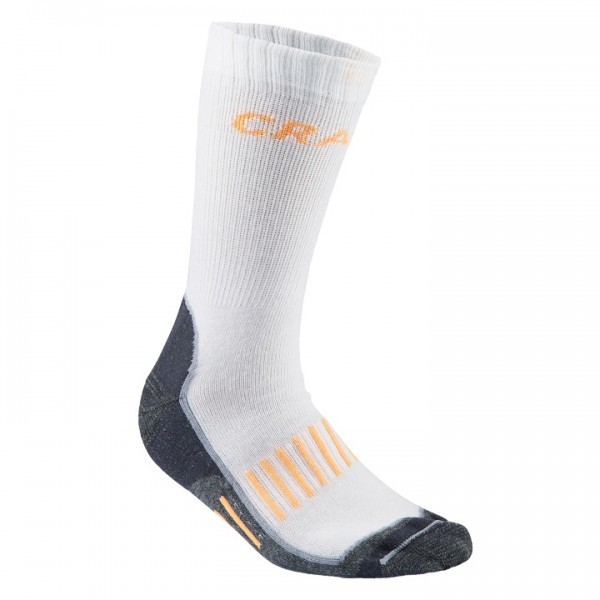 CRAFT Warm Training 2-Pack Winter Cycling Socks, white