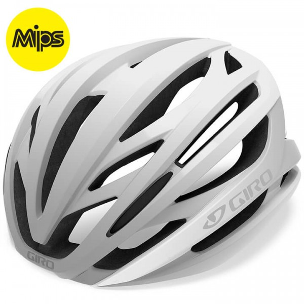 Giro Syntax Mips 2019 Road Bike Helmet white - silver