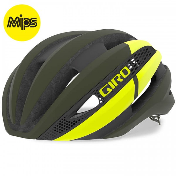 GIRO Synthe Mips 2019 Road Bike Helmet yellow - green