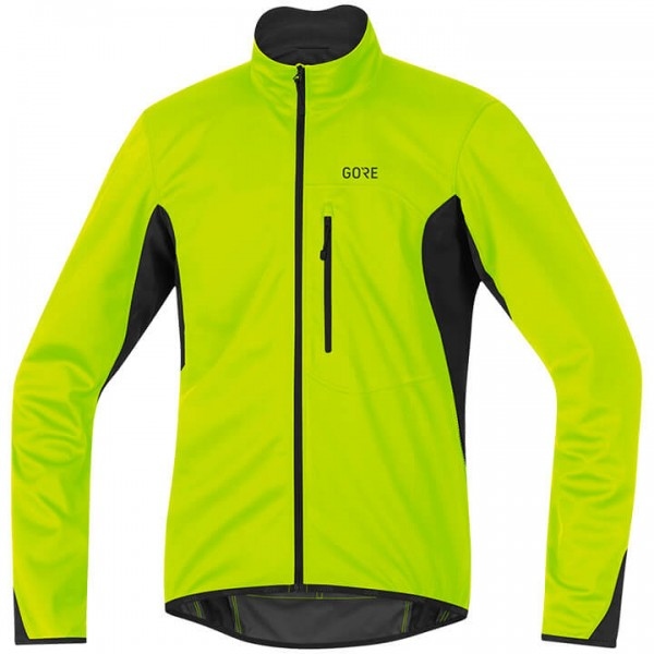 GORE C3 Gore Windstopper Thermo Winter Jacket neon yellow - black