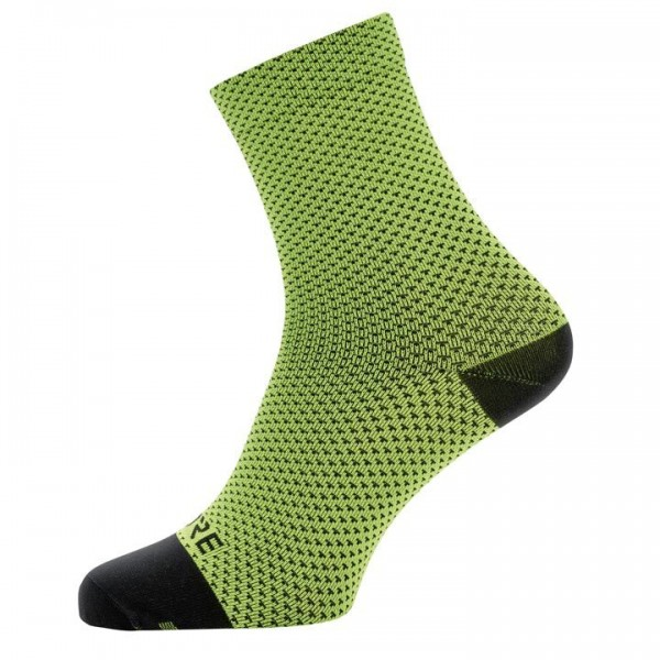 GORE Dot Cycling Socks neon yellow - black