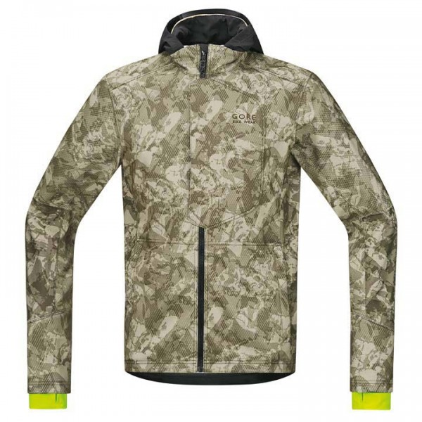 GORE Element Urban Print WS SO Winter Jacket, olive camouflage