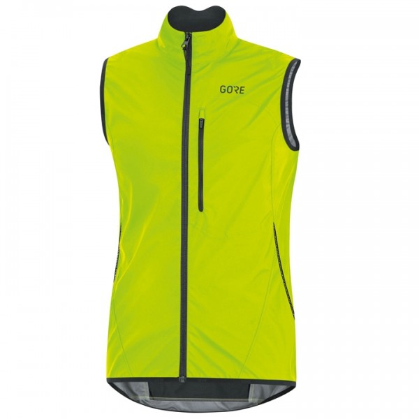 GORE Windstopper Light Wind Vest neon yellow - black