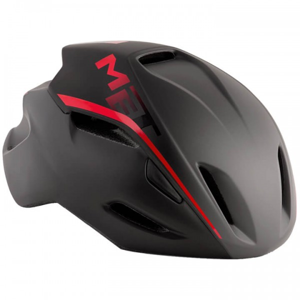 MET Manta 2019 Road Bike Helmet black - red