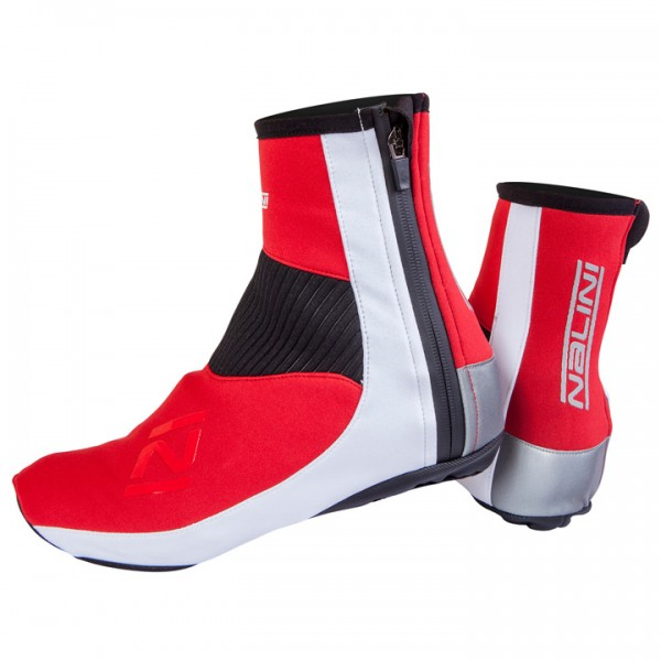 NALINI PRO Gara Road Thermal Shoe Covers, red-white red