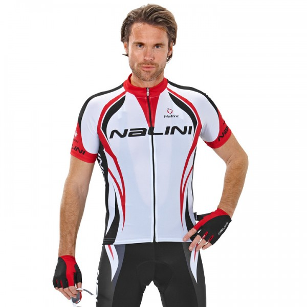 NALINI PRO Predazzo Short Sleeve Jersey white-red-black