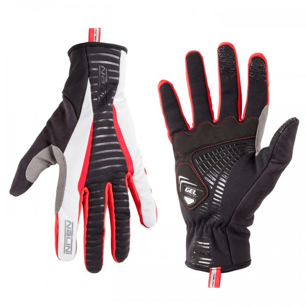 NALINI PRO Prime Winter Gloves, white-red white