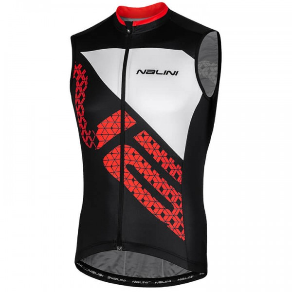 NALINI Volata Sleeveless Cycling Jersey black - red