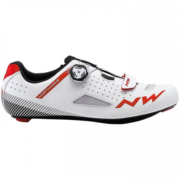 NORTHWAVE Core Plus 2019 Road Bike Shoes white - red