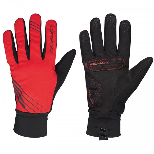 NORTHWAVE Power 2 Gel Winter Gloves, black black - red